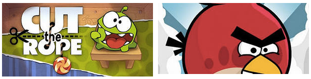 cut the rope и angry birds