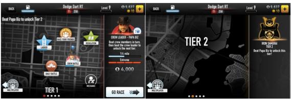 Прогресс в мобильной игре CSR Racing