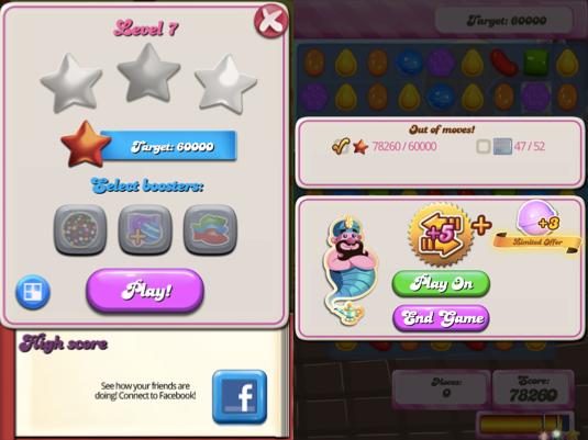 Монетизация мобильной игры Candy Crush Saga