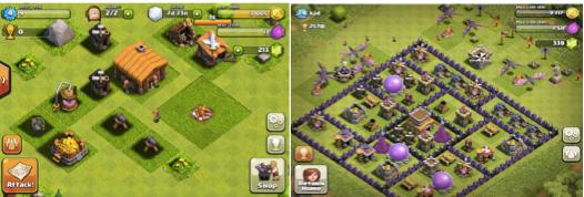 Прогресс в мобильной игре Clash of Clans