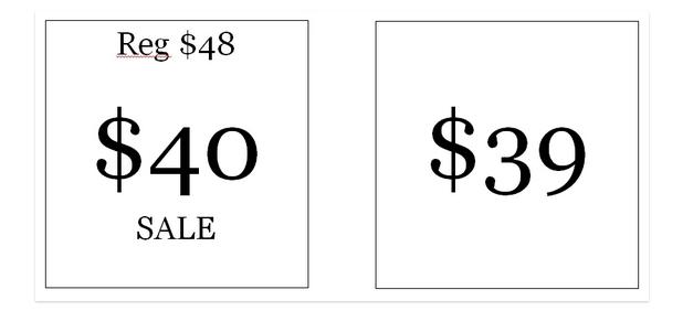 цифра 9 в цене, эксперименты с ценообразованием