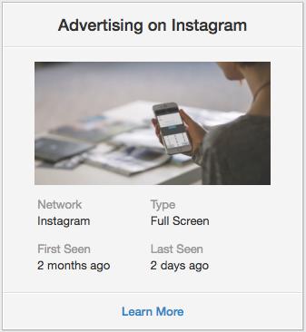 мобильная реклама в Instagram мобильного приложения App in the Air