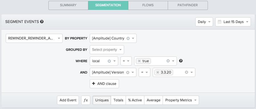 segmentation инструмент сегментации в системе аналитики мобильных приложений Amplitude