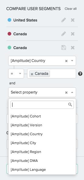 выделение сегментов в системе аналитики мобильных приложений Amplitude
