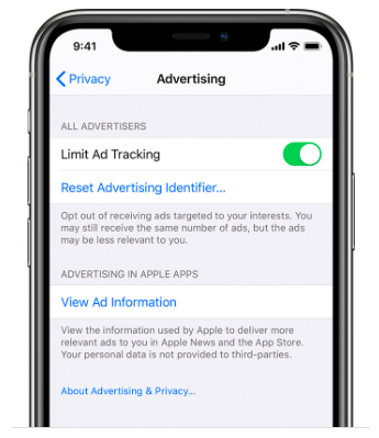 Apple выпустила LAT (limit ad tracking)